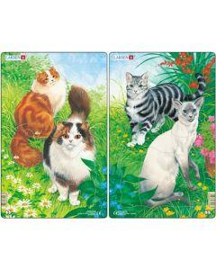 Larsen Platepuslespill Midi katter (brun) - 11 brikker