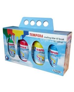 Tempera maling 250 ml - 4 stk