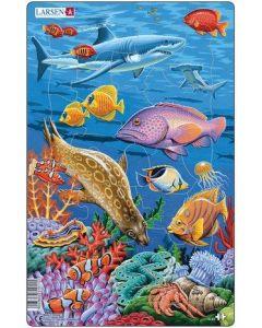 Platepuslespill Midi hav (hai) - 11 brikker