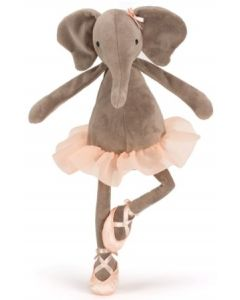 Jellycat dancing Darcey elephant plysjbamse- 33 cm