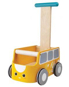 PlanToys Gåvogn - gul