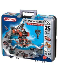 Meccano super construction set - 640 deler/ 25 models