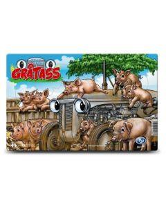 Gråtass brettpuslespill 16 biter - griser
