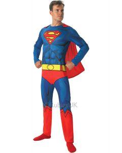 Superman commic book kostyme voksen delux (one size)