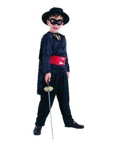 Zorro kostyme - H: 120-130cm