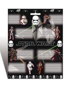 Star Wars 8 navnelapper til bøker - klistremerke