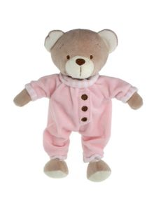Tinka bamse 25 cm med pysj rosa
