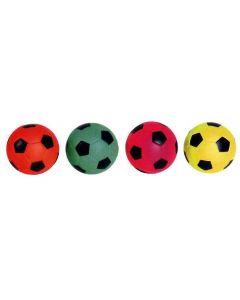 Fotball i svampgummi neon 63 mm - selges asst.