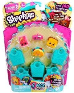 Shopkins 5 pack på blister - sesong 3