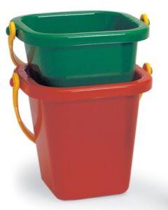 Plasto bøtte i plast med hank 15cm - rød pr. stk.