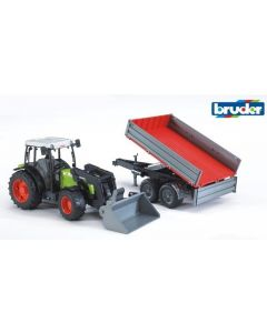 Bruder Claas Nectis 26 F traktor med frontlaster og tilhenger - 02112