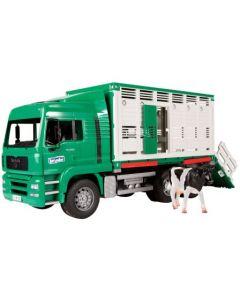 Bruder MAN TGA kvegtransport inkl. 1 ku - 02749