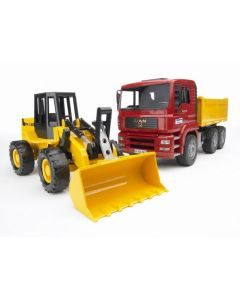Bruder MAN TGA lastebil og hjullaster FR 130 - 02752