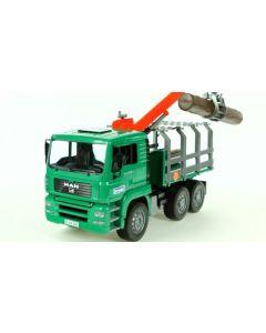 Bruder MAN Timber transportbil med heisekran inkl. 3 tømmer - 02769