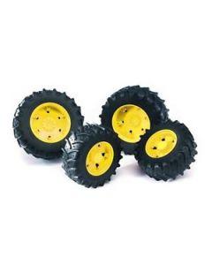 Bruder tvillinghjul gul 3000 - 03314