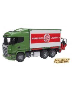 Bruder Scania R-Series lastebil med gaffeltruck - 03580