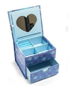 Disney Frozen smykkeskrin med hjertespeil 10x9,6x8cm