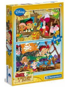 Clementoni 2x20 puslespill Jake og Neverlan