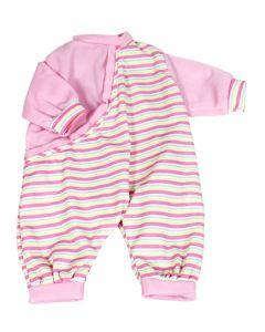 Lissi dukkeklær - str. 41cm rosa med striper