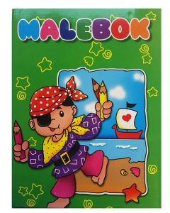 Malebok A4 pirat - 288 sider