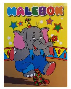 Malebok A4 elefant - 288 sider