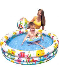 Intex basseng med ball og badering - 132x28 cm