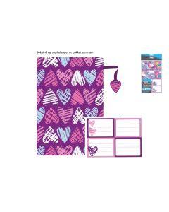 Tinka tekstil bokbind med 4 merkelapper