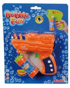 Bubble Fun såpeboblepistol 19cm 55ml - oransj