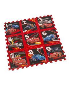Disney Cars gulvpuslespill - 9 motiver