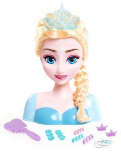 Disney Frozen - Elsa frisørhode med tilbehør