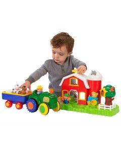 Kiddieland bondegård og traktorsett med lyder
