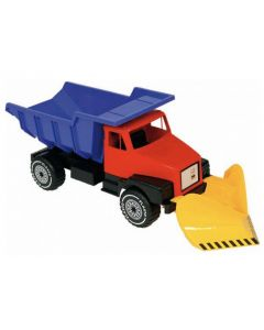 Plasto stor lastebil med skuffe - 86 cm