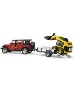 Bruder Jeep med Cat Shoveldozer - 02925
