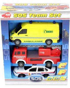 Dickie Toys SOS 3-pakning - norsk versjon