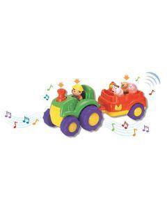 Musikalsk traktor med figurer