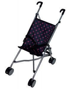 Paraplytrille - sort med rosa prikker