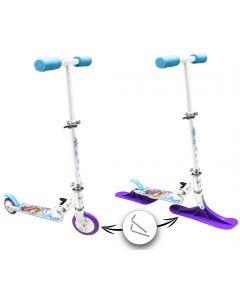 Disney Frozen - 2-i-1 sparkesykkel med ski og hjul - aluminium