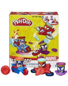 Play-Doh - lag dine egne superhelter - inkl. 3 bokser med leire