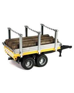 Bruder Henger til tømmer inkl. 3 tømmerstokker - 02213