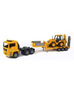 Bruder MAN TGA Low lastebil med JCB 4CX traktorgraver - 02776