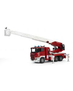 Bruder Scania R-Series brannbil med vannpumpe, lys og lyd - 03590