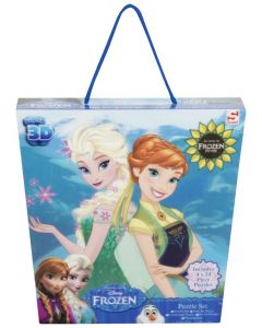 Disney Frozen 3D-puslespill - 4-pack