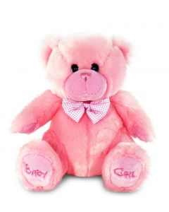 Keel Toys sittende plysjbamse - rosa 28 cm