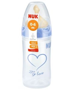 NUK My Love tåteflaske 0-6mnd - lateks 150ml