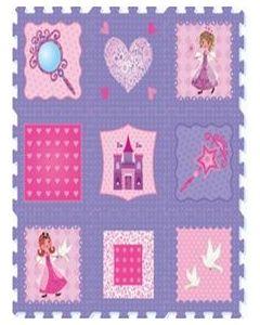 Puslematte Fairy prinsesse - 9 deler