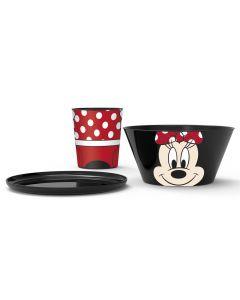 Disney Minnie Mouse spisesett - 3 deler