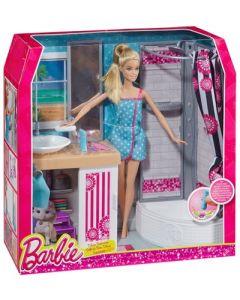 Barbie værelse med dukke - Bad