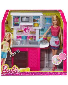 Barbie værelse med dukke - Kjøkken