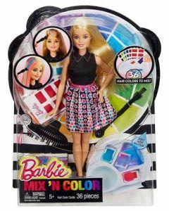 Barbie mix & match color dukke