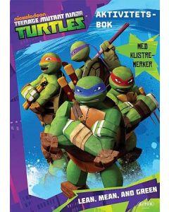 Turtles lean, mean and green aktivitetsbok med klistremerker